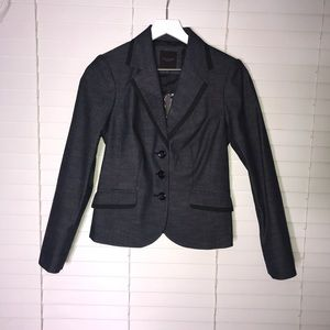The Limited NWT Navy Blue And Black Blazer Size 2